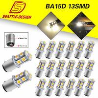 20x 4300K White 1157 BA15D 1154 5050 Chip13-SMD LED Interior Light Bulbs 12V