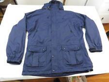 Vintage REI Mens Blue Hiking Rain Hooded Jacket Size XL Guide Parka Coat DAMAGE