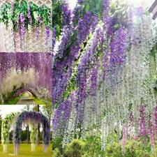 12 Pcs 110cm Artificial Wisteria Ivy Hanging Vine Faux Silk Vine Flower Garland