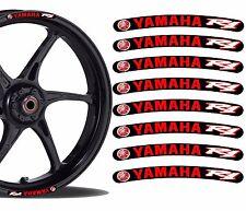 8 YAMAHA R1 WHEEL RIM VINYL STICKERS STRIPES MOTO CAR BIKE MOTORCYCLE TUNING R13