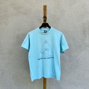 Vintage 1987 Malibu Triathlon Screen Stars Single Stitch T-shirt Fits Men's S