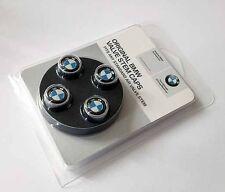 BMW Genuine Roundel Logo Tire Valve Steam Cap Set, Caps NEW Original Set of 4