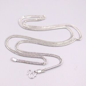 Real Pt950 Pure Platinum 950 Necklace For Women Man 3mm Curb Chain 22''L Gift