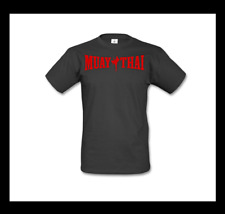Muay Thai camisa talla L negro rojo kickboxing MMA boxeo Fighting Fitness