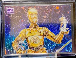 2021 TOPPS CHROME STAR WARS GALAXY #6 C3PO WAVE REFRACTOR 1/25