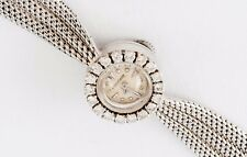 ESTATE LUXURY JAEGER LECOULTRE  SOLID 18K 750 WHITE GOLD WRIST WATCH