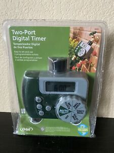 NEW Sealed Orbit Two Port Digital Automatic Water Timer 56503 Hose Lawn Yard