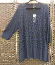 TS 14+ Monroe Top Sheer Black Blue Navy S BNWT RRP$109.95