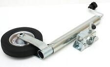 Stützrad Bugrad m. Halter Klemmschelle 150kg 48mm Aufnahme f. Anhänger Wohnwagen