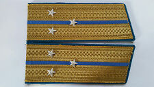 Air Force Parade Gold Shoulder Board Epaulets 3 stars USSR Soviet Army Uniform 2