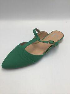 Journee Collection Womens Fernn Mules Green Size 8M US
