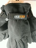 Sport World Blue One Size  Winter Fleece Gloves  New 3-Pack Color Black