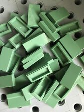 Lego Tile Sand Green Flat Tiles 1x2 Smooth Finishing Buildings Roof Floor 50 Pcs