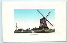 *Volendam Holland Windmill Old Vintage Postcard B99