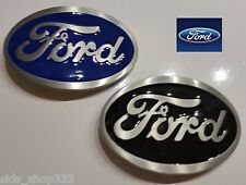 2 Ford Belt Buckles , Blue and Black Enamel Fill Pewter Finish US Seller