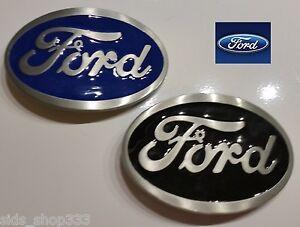 2 Ford Belt Buckles , Blue and Black Enamel Fill Pewter Finish US Seller