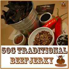 BEEF JERKY 50G TRADITIONAL AUSTRALIAN PERFECT SNACK WINE BEER CIDER SPIRITS