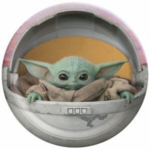 Star Wars Mandalorian Baby Yoda Cake plates - 8 pack, 7 inch