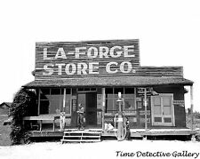 """Country Store with Gas Pump, La Forge, Missouri - 1938 - 16"""" x 20"""" Poster"""