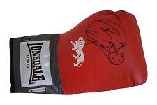 Herol Bomber Graham SIGNED Boxing Glove Autograph Lonsdale AFTAL PROOF Sport COA