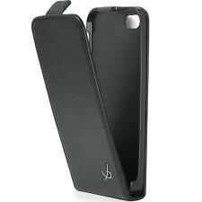 Etui Slim à rabat pour Apple iPhone SE et 5s coloris noir lisse aspect mat l