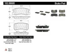 Disc Brake Pad Set-Disc, Convertible Rear Centric 102.08680