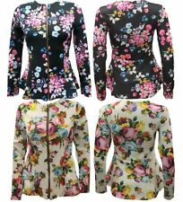 Polyester Machine Washable Floral Regular Coats & Jackets for Women