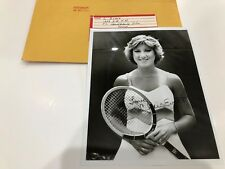 Tennis Pro CHRIS EVERT 8x10 Photo Pre Signed 1978