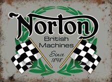 Norton British Racing Machines, moto, métallique petit métal /