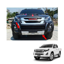 Front Bumper Guard Cover Black Silver 1Pc Fit Isuzu D-max Holden Rodeo 2016 - 17