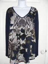 TOGETHER FLORAL PRINT TUNIC - SIZE MEDIUM (14/16)