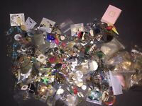 Vintage to Now Estate Jewelry Junk Drawer Lot Unsearched Craft 10 + Pounds
