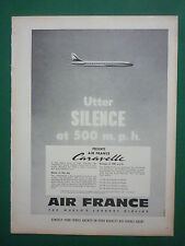 1959 PUB AIR FRANCE AIRLINE AVION CARAVELLE AIRLINER AIRCRAFT ORIGINAL AD