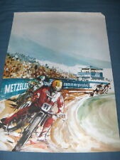 ESO Jawa Poster by Metzeler NOS a speedway beauty RACING vintage small tears