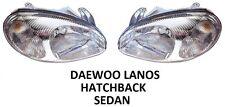 DAEWOO LANOS PAIR FRONT HEADLAMPS HEAD LAMP HEADLIGHTS H4 LEFT RIGHT SEDAN HATCH