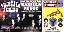 Vanilla Fudge Concert Handbill Set Mini Posters Nyc Appice Martell
