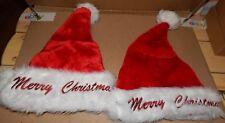 Christmas Santa Hats Say Merry Christmas 2 Each Adult Head Size Be Jolly 150P