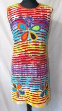 Fair Trade Tie Dye Dress Strappy Soft Cotton Festival Beach Boho Hippy size S