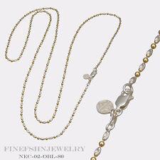 Authentic Mi Moneda 925 Silver Gold Plated Oblongo Necklace NEC-02-OBL-80