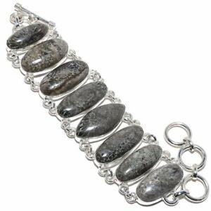 "Stingray Coral Gemstone Handmade 925 Sterling Silver Bracelet 6-9"""