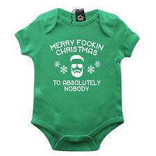 Conor McGregor Merry Christmas Fookin Nobody Funny Babygrow Gift Baby Grow CH43