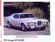 1971 Mercury Cougar GT CJ 429 351 ci Info/Specs/photo/prices 11x8