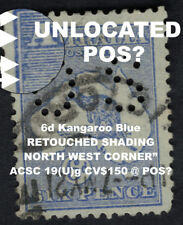 6d KANGAROO SMALL OS VARIETY RETOUCHED NORTH WEST CRN ACSC 19 (U)g CV$150 @ POS
