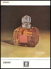 Publicité Parfum Caron Bellodgia perfume  photo vintage print ad  1962 .9i