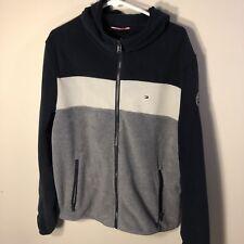 Tommy Hilfiger Mens Fleece Flag Logo Color Block Jacket...