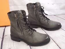 MIZ MOOZ BROWN LEATHER LACE UP ANKLE BOOTS CHARLIE EU39 - 8 - 8.5 Graphite