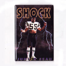 JUNIOR SEAU / SHOCK TREATMENT - COSTACOS BROTHERS POSTER MAGNET (nike chargers)