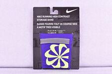 Nike Running High Contrast Storage Band, Purple w/ Neon Yellow