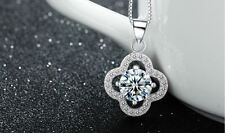"""1CT Diamond 925 Sterling Silver necklace 18"""" Chain Love  Heart her gift MOM #150"""
