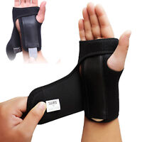 Wrist Brace Splint Sprain Carpal Tunnel Syndrome Hand Support Recovery Black